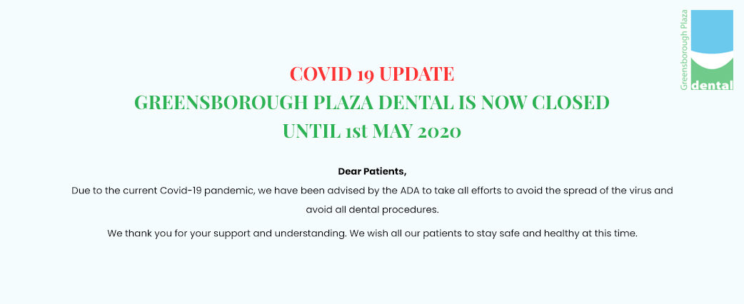 COVID-19 Update - Business Closure